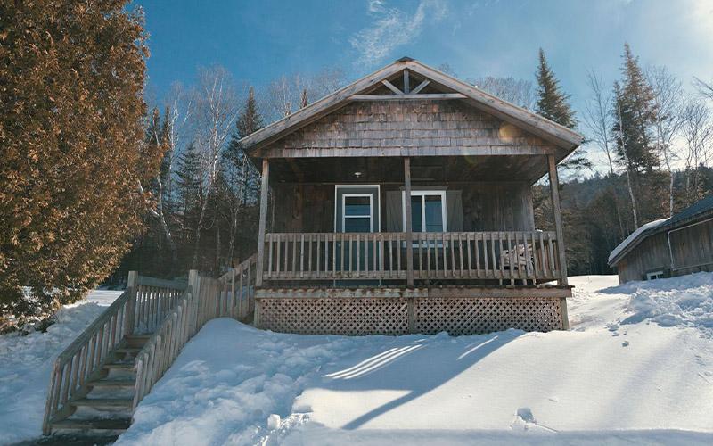 Chalets en hiver3 - Pourvoirie du Lac Croche Saint-Côme - Lanaudière