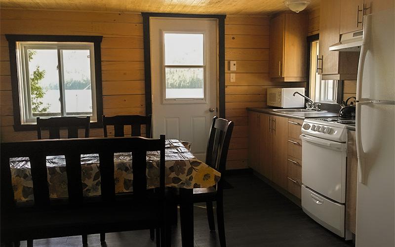 Chalets intérieur2 - Pourvoirie du Lac Croche Saint-Côme - Lanaudière